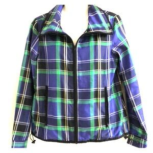 Ralph Lauren vintage windbreaker plaid jacket sz S